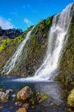 在Gjain谷的小瀑布 图库摄影