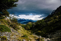 在Glaciar灰色的风景 图库摄影