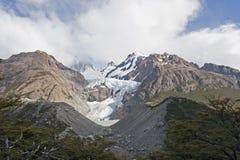 在Glaciar Piedras Blancas,巴塔哥尼亚,阿根廷附近 免版税库存照片
