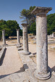 在Glanum的罗马柱子。 (法国) 库存图片