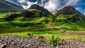 在Glencoe山的美好的日出在苏格兰 股票视频