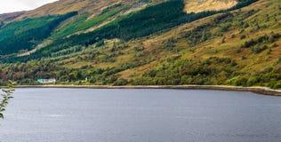 在Glencoe附近的海湾Leven,在苏格兰的高地 库存照片