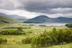 在Glencoe,苏格兰附近的谷 库存照片