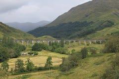 在Glenfinnan的铁路渡槽 免版税库存照片