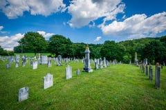 在Glenville,宾夕法尼亚附近的公墓 库存照片