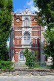 在Glibova街道上的别墅帕勒泰恩在利沃夫州,乌克兰 免版税库存图片