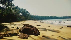 在goa的空的海滩 库存照片