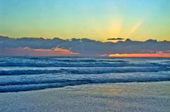 在Goald海岸的日落 库存图片