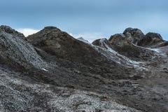 在gobustan的泥火山在阿塞拜疆 库存照片