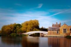 在Godmanchester的中国桥梁 库存图片