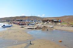 在Gokceada的海滩 免版税库存照片
