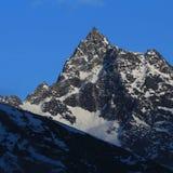 在Gokyo谷的指向的山,尼泊尔 库存图片