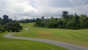 在goodday的高尔夫球场风景 库存照片