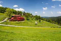 在Gorce山脉的旅游驻地Studzionki 库存图片
