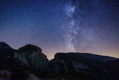 在Gorges du维登上的银河 免版税库存图片