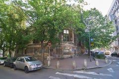 在Gospodar Jevremova街道上的老房子 库存图片
