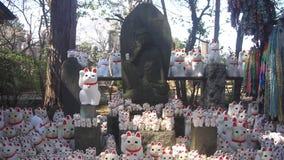 在Gotokuji的雕象猫在东京 股票录像