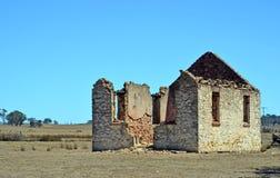 在Goulburn, NSW附近的历史的教会废墟 库存图片