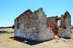 在Goulburn, NSW附近的历史的教会废墟 免版税库存照片