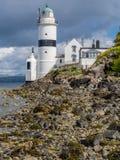 在Gourock,苏格兰附近的Cloch灯塔 免版税图库摄影
