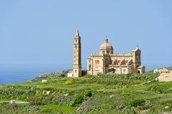 在Gozo的Ta Pinu大教堂,马耳他 库存图片
