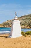 在Gozo,马耳他的北边Ramla海滩 图库摄影