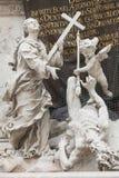 在Graben街道,维也纳的著名列 免版税图库摄影