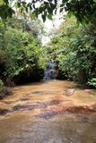 在gran sabana委内瑞拉的小小瀑布 免版税库存图片