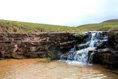 在gran sabana委内瑞拉的小瀑布 图库摄影