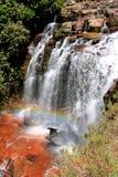 在gran sabana委内瑞拉的瀑布 免版税库存照片