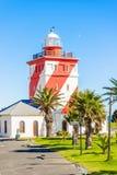在Greenpoint,开普敦南非的灯塔 库存照片
