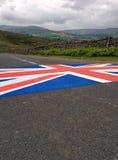 在Grinton的英国国旗停泊 图库摄影
