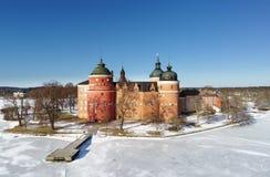 在Gripsholm城堡的冬天 库存照片