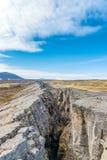 在Grjotagja的地球断裂 在湖Myvatn附近 免版税图库摄影