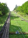 在grossglockner hochalpstrasse的一种缆绳推力在奥地利 图库摄影