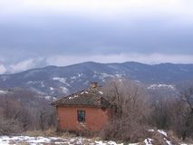 在Grza附近的老房子 库存照片