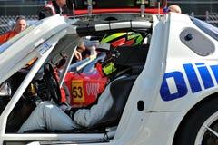 在GT汽车冠军的驱动器在蒙扎跑道 免版税库存照片