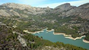 在Guadelest附近的水库在西班牙 库存图片
