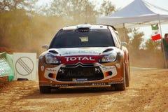 WRC光环集会墨西哥2010年Mikko Hirvonen 库存图片