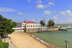 在gulangyu海边的欧洲风格的别墅  库存照片