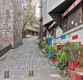 在Gulhane公园,苏丹Ahmet区,伊斯坦布尔旁边的传统小餐馆 库存照片