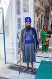 在Gurudwara的卫兵 免版税图库摄影