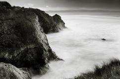 在Gwithian海滩的涨潮 库存照片