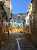 在Hébron,约旦河西岸的开放的市场 免版税图库摄影