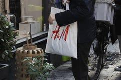 50%在H&M的折扣ssla 免版税库存照片