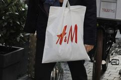 50%在H&M的折扣ssla 免版税库存图片