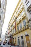在Habsburgergasse街道上的Pertschy Palais旅馆在分 免版税库存照片