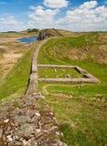 在Hadrians墙壁上的Milecastle 39 免版税库存图片