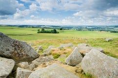 在Hadrians墙壁北部的诺森伯兰角 库存照片