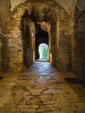 在Hagia艾琳教会古老大厦的门  免版税库存图片